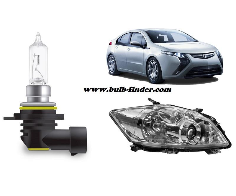 Vauxhall Ampera bulbs specification for halogen headlamp