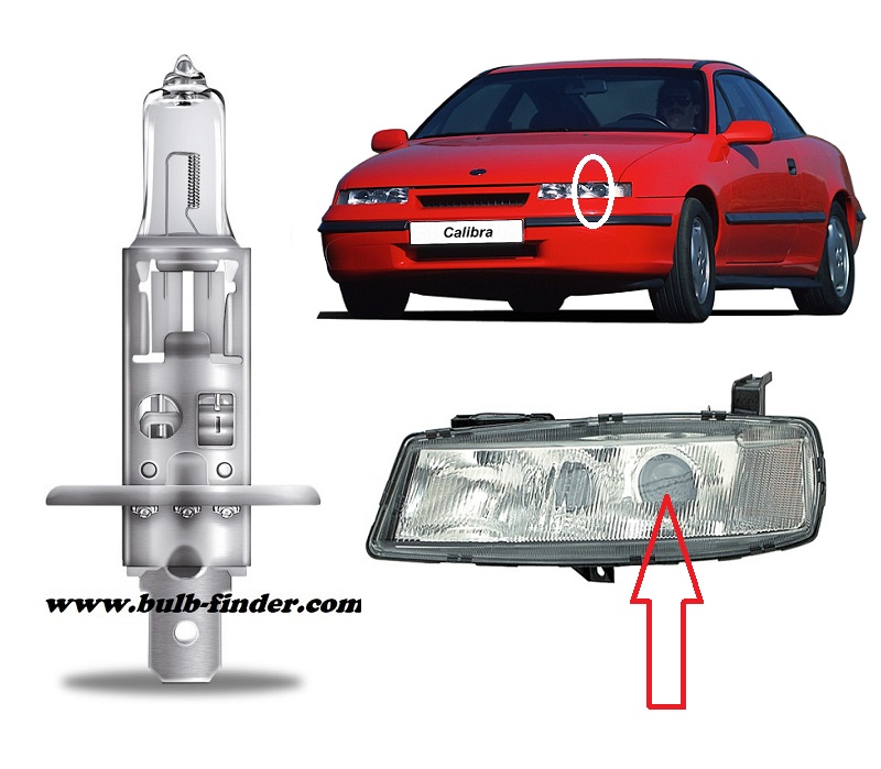 Vauxhall Caliba Mk1 bulbs specification for halogen headlamp