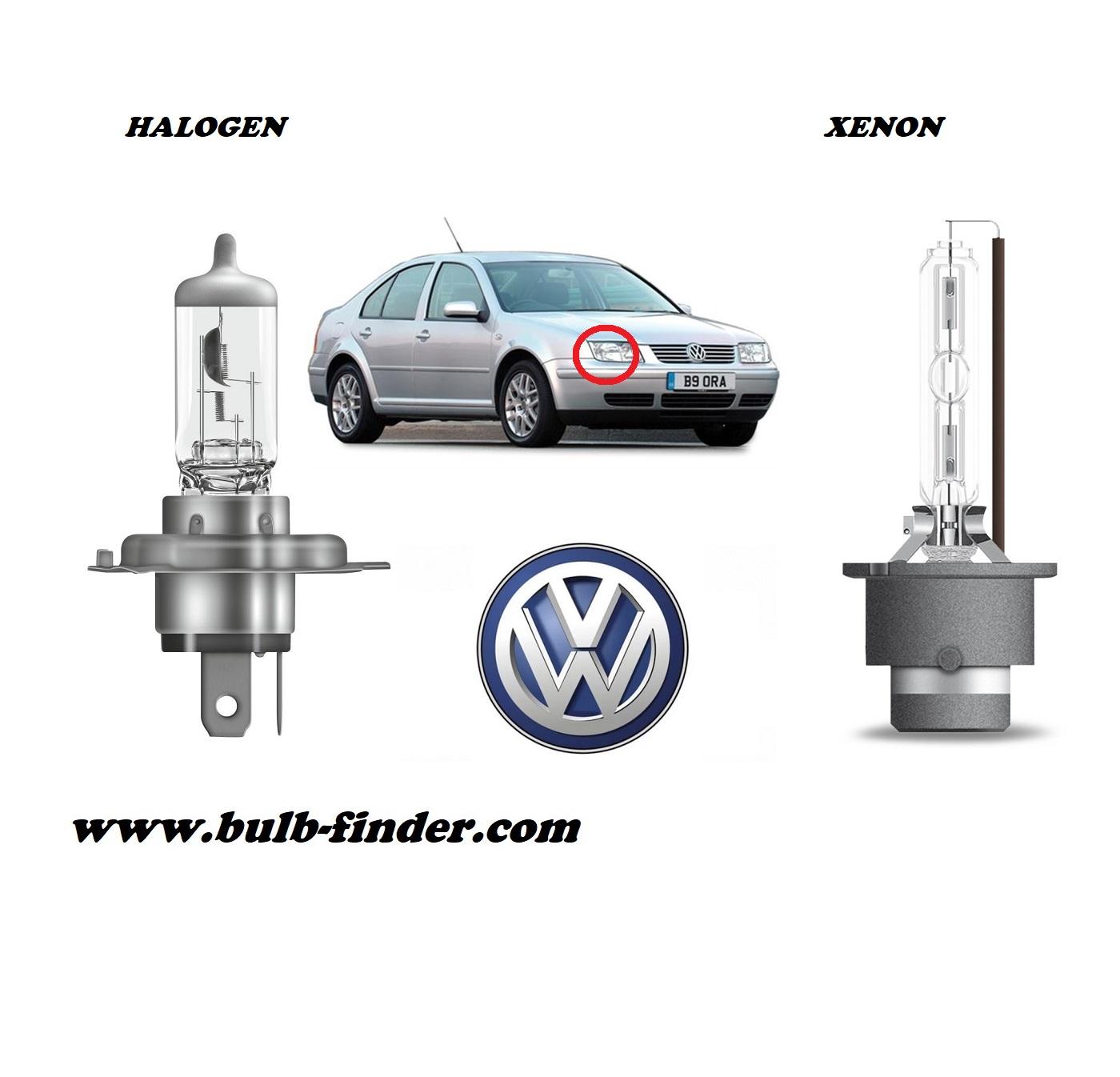 VW Bora model bulb for LOW BEAM HEADLIGHT specification