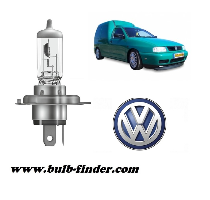 VW Caddy 2 model bulb for LOW BEAM HEADLIGHT specification