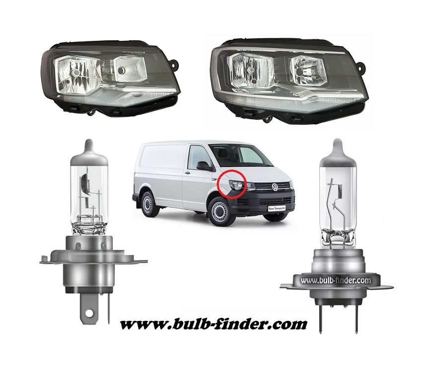 VW Caravelle Mk VI model bulb for LOW BEAM HEADLIGHT specification