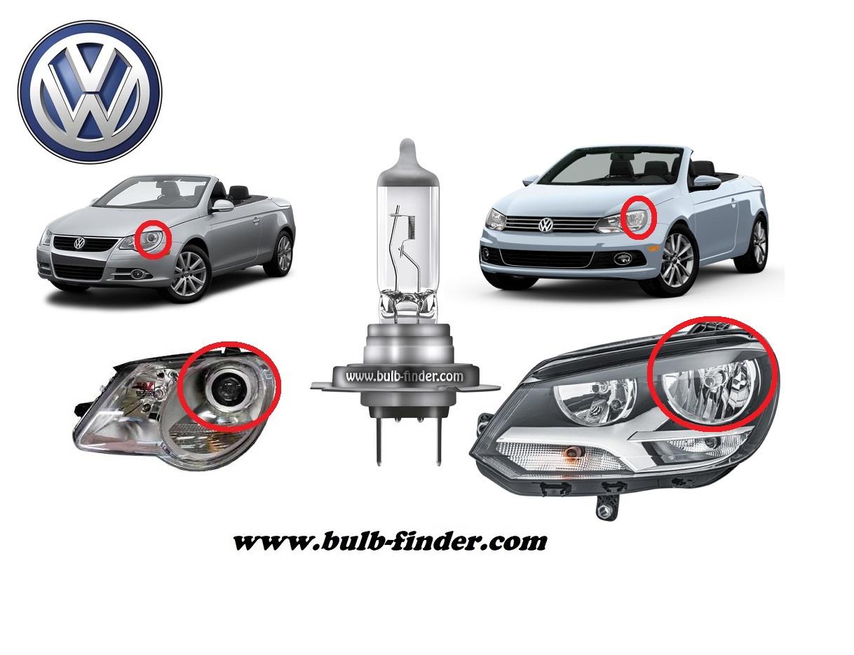 VW EOS Facelift model bulb for LOW BEAM HEADLIGHT specification