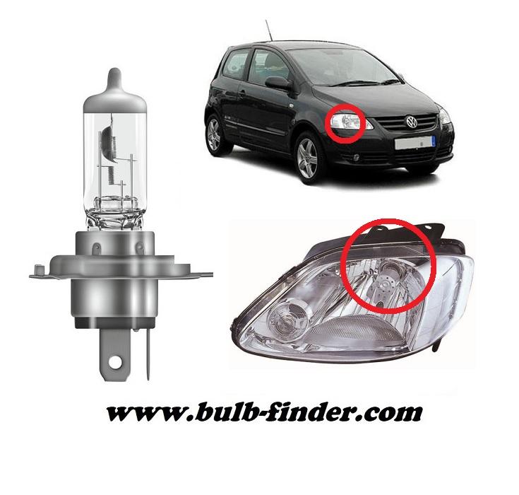 VW FOX model bulb for LOW BEAM HEADLIGHT specification