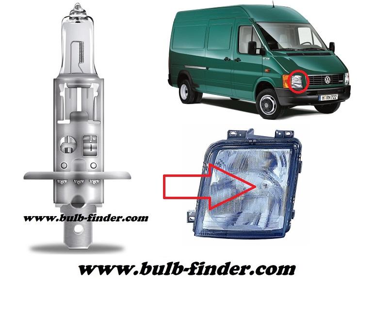 VW LT model bulb for LOW BEAM HEADLIGHT specification