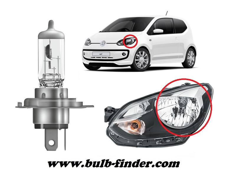 VW Load UP! model bulb for LOW BEAM HEADLIGHT specification