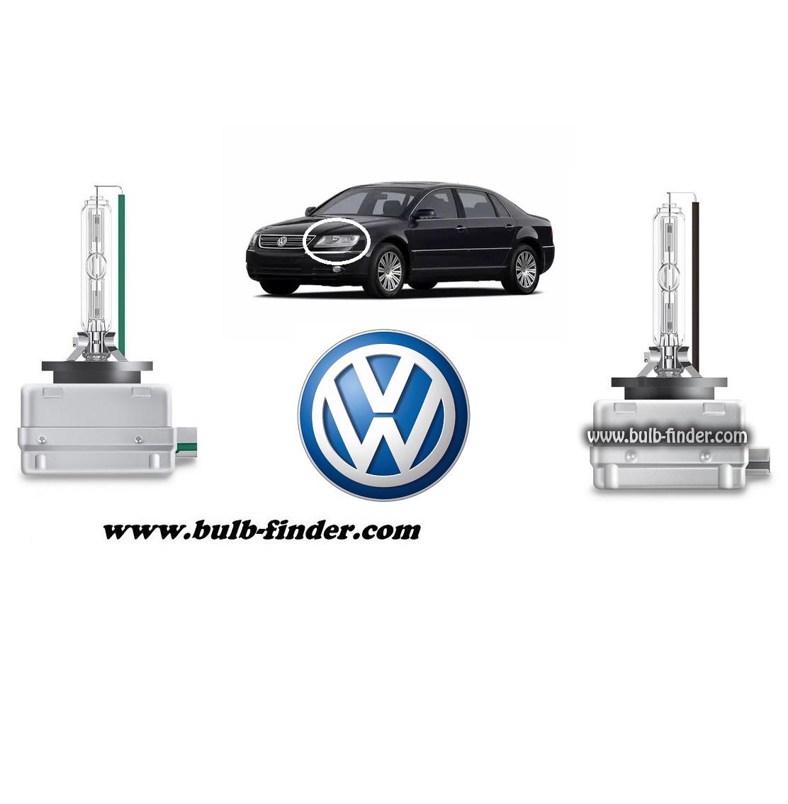 VW Phaeton model bulb for LOW BEAM HEADLIGHT specification