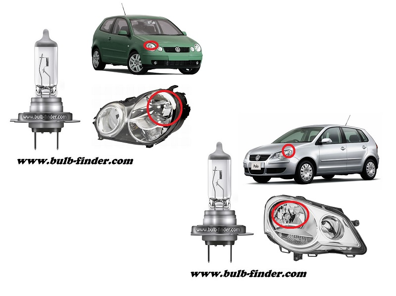 VW Polo model bulb for LOW BEAM HEADLIGHT specification