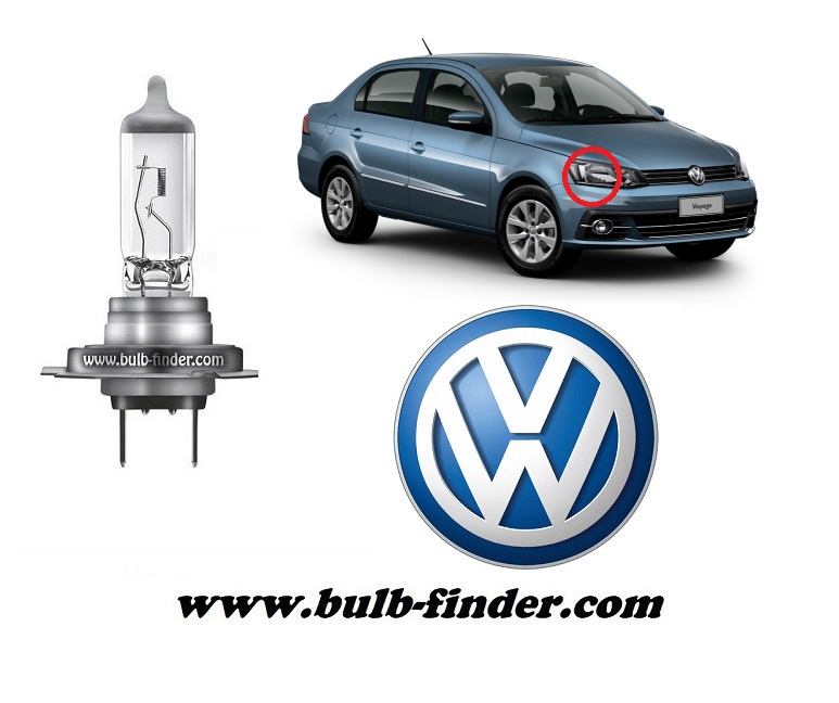 VW Voyage bulbs specification for halogen headlamp