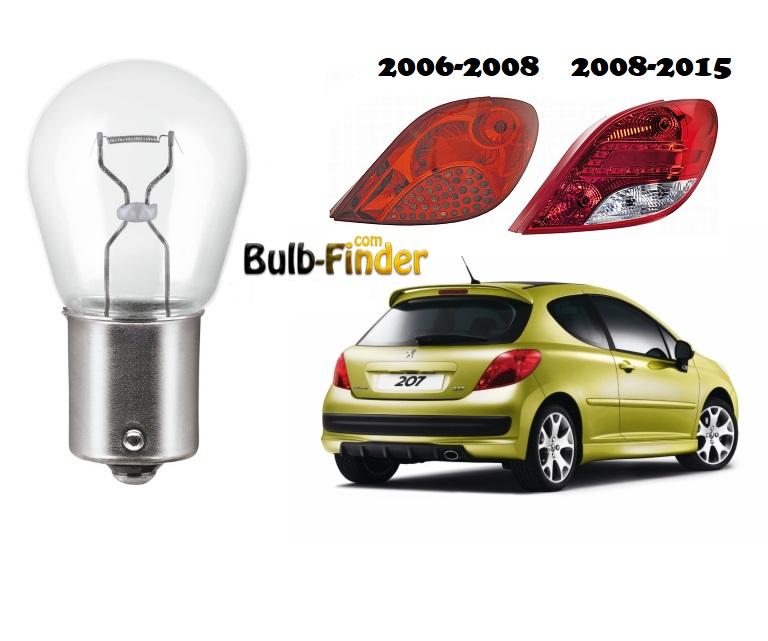 Peugeot 207 back-up bulb model