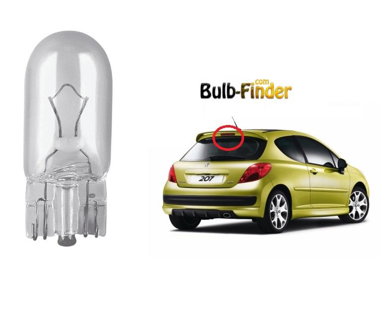 Peugeot 207 additional brake bulb model