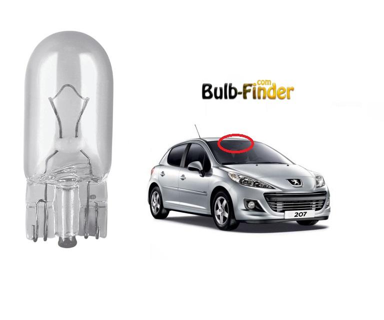 Peugeot 207 roof bulb model