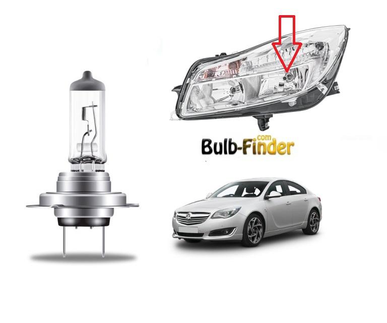 Vauxhall Insignia Mk1 bulbs model